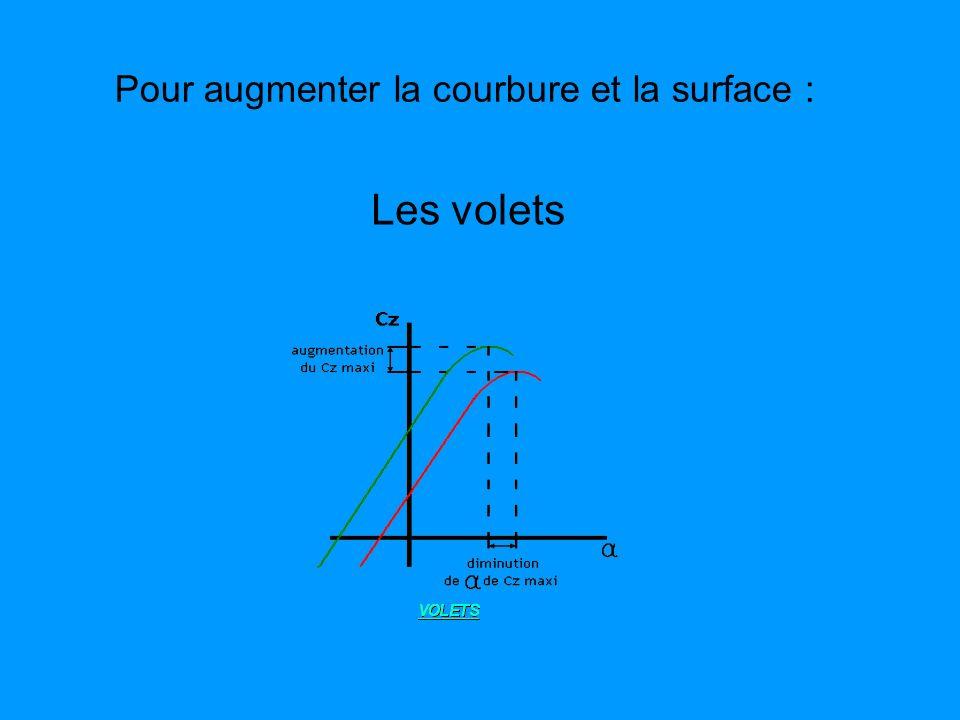 Pour augmenter la courbure et la surface :