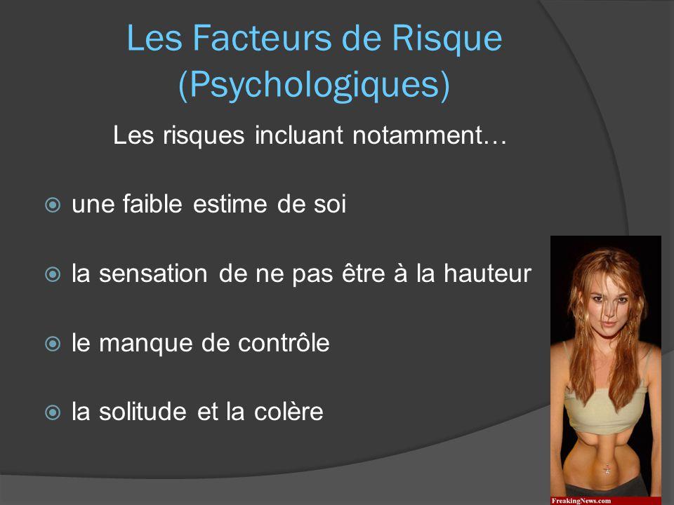 Les Facteurs de Risque (Psychologiques)