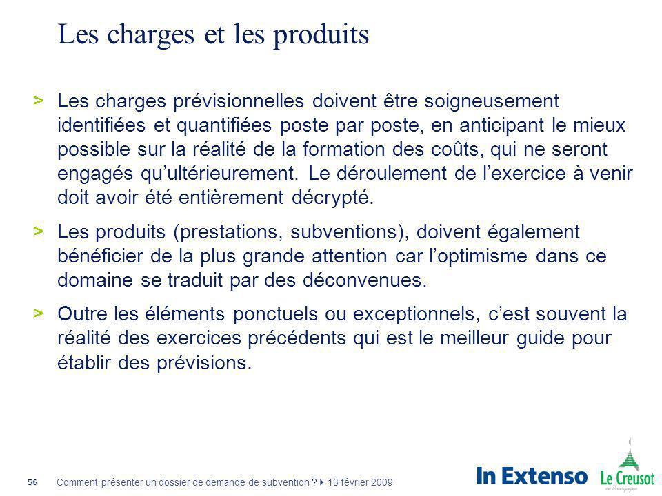 Les charges et les produits