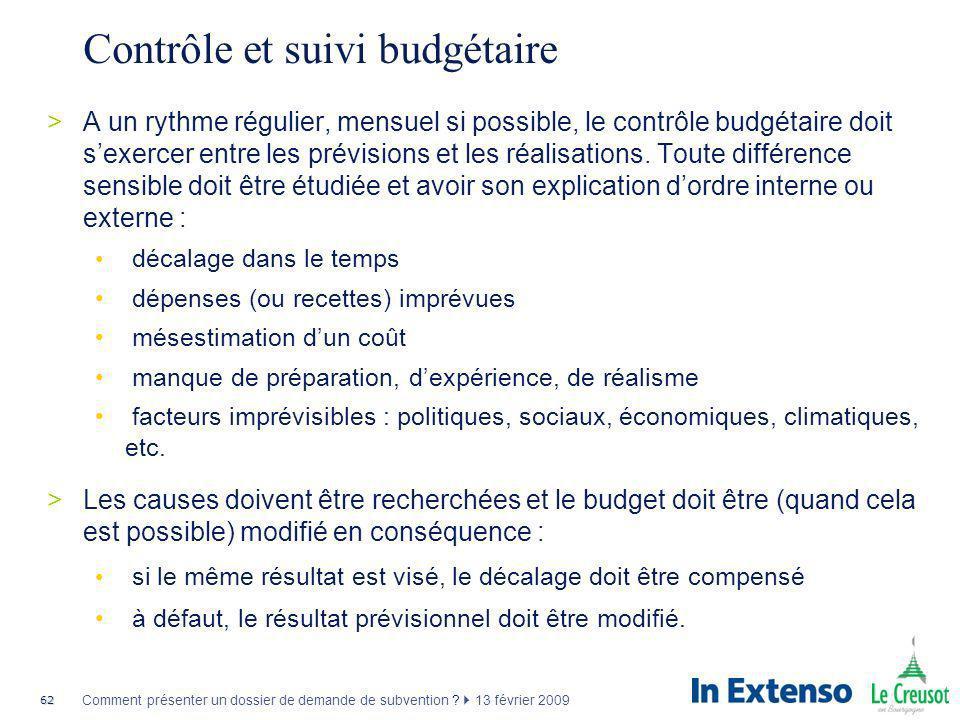 Contrôle et suivi budgétaire