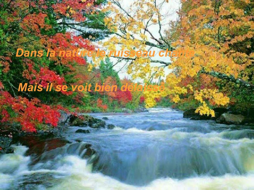 Dans la nature le ruisseau chante
