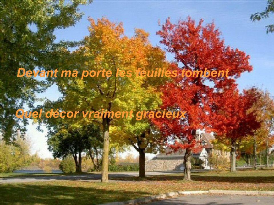 Devant ma porte les feuilles tombent