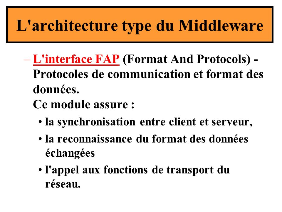 L architecture type du Middleware