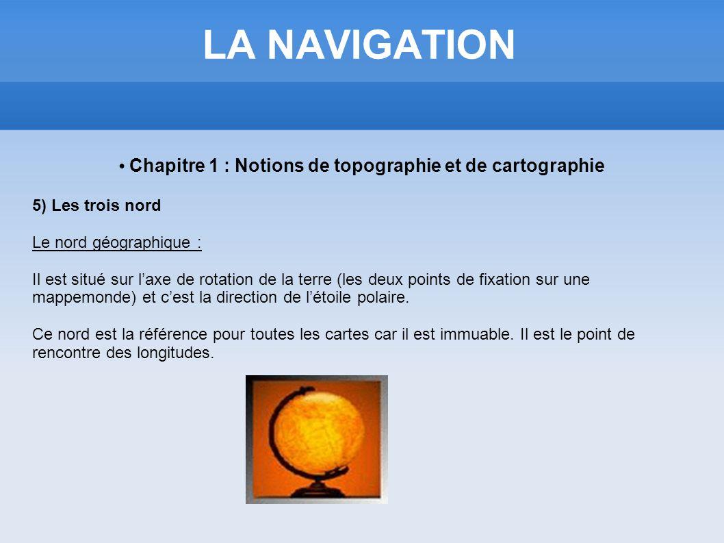 • Chapitre 1 : Notions de topographie et de cartographie