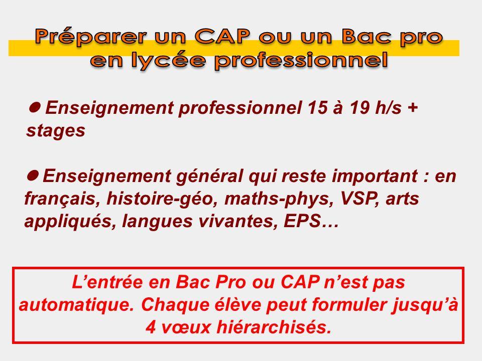 Préparer un CAP ou un Bac pro en lycée professionnel