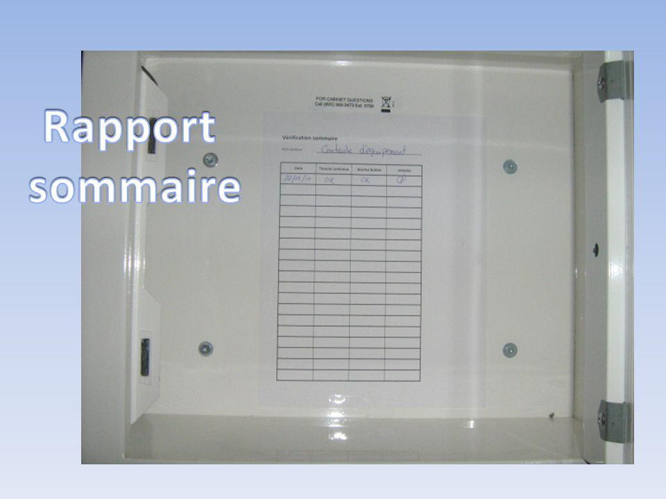 Rapport sommaire