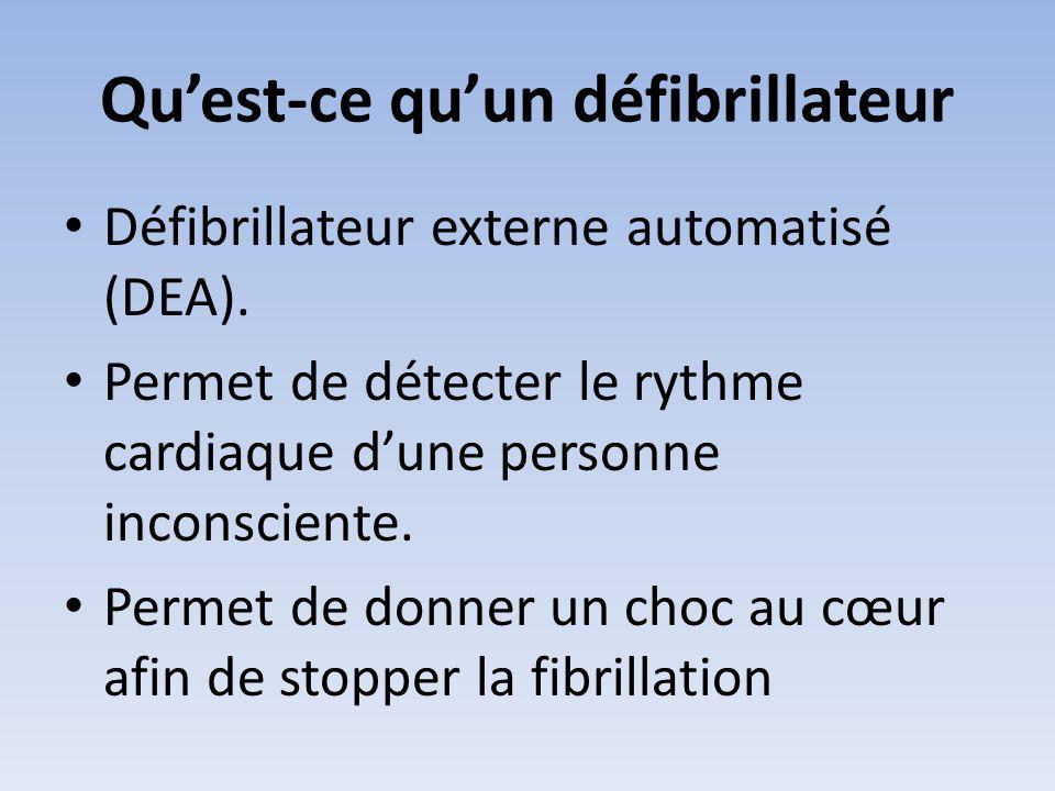 Qu'est-ce qu'un défibrillateur