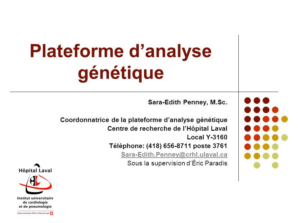 Plateforme d'analyse génétique