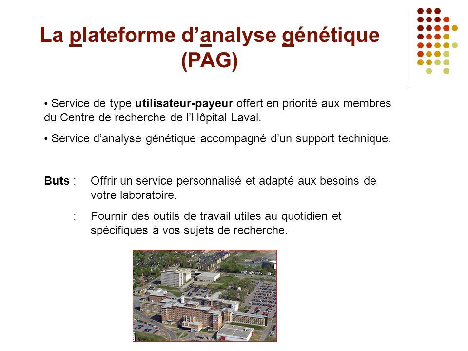 La plateforme d'analyse génétique (PAG)