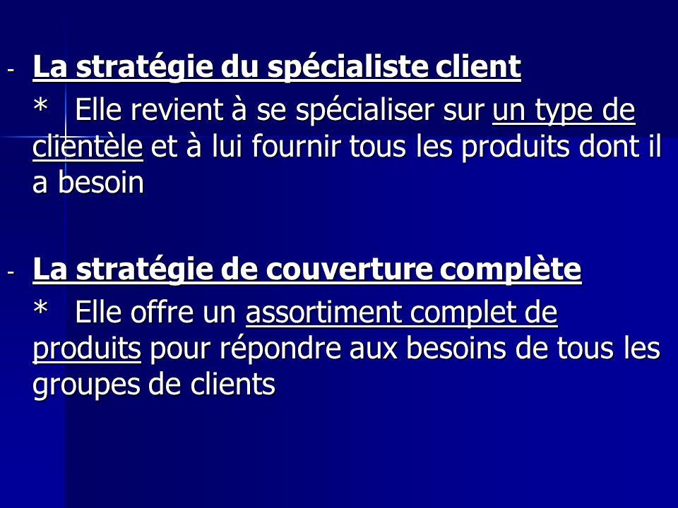 La stratégie du spécialiste client