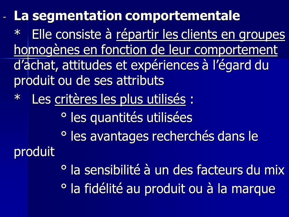 La segmentation comportementale