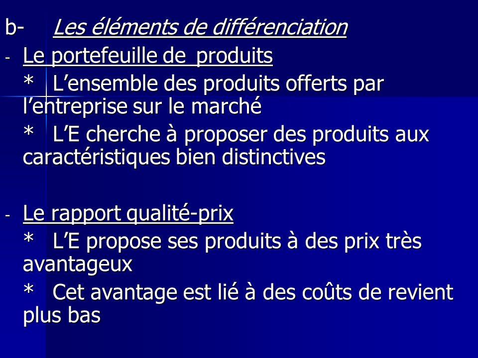 b- Les éléments de différenciation