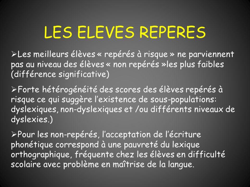 LES ELEVES REPERES