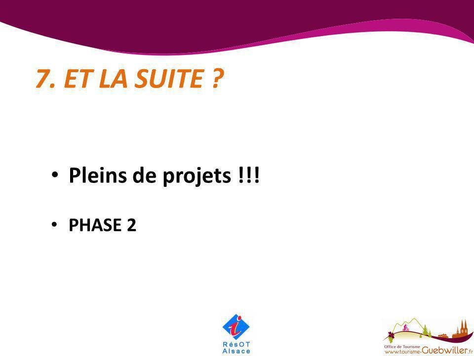 7. ET LA SUITE Pleins de projets !!! PHASE 2