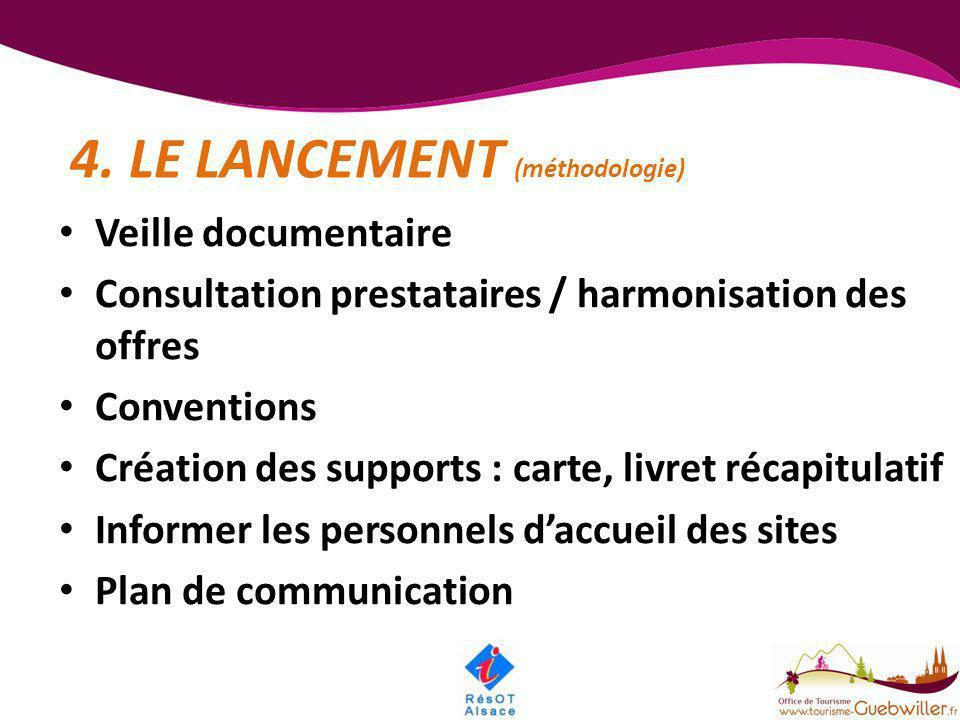 4. LE LANCEMENT (méthodologie)