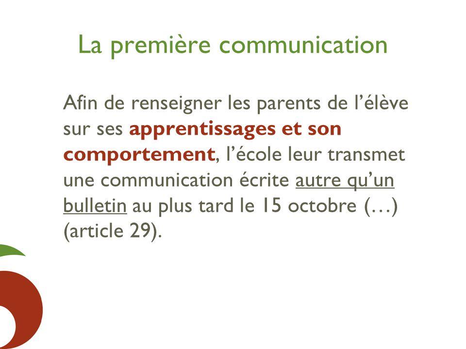 La première communication