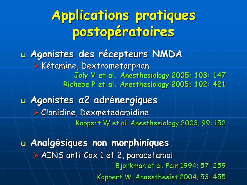 Applications pratiques postopératoires