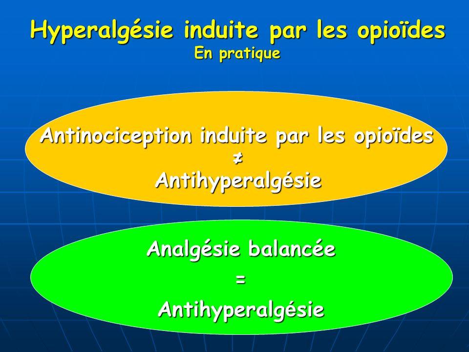 Hyperalgésie induite par les opioïdes En pratique