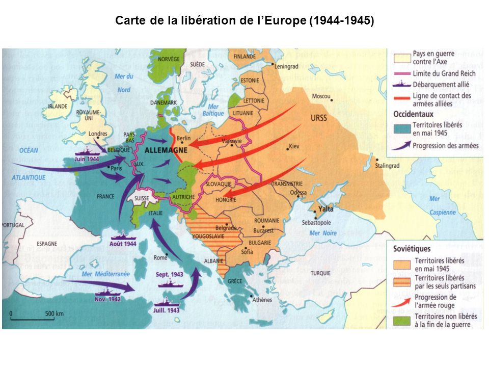 Carte de la libération de l'Europe (1944-1945)