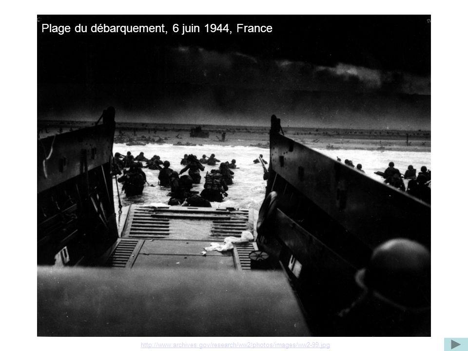 Plage du débarquement, 6 juin 1944, France