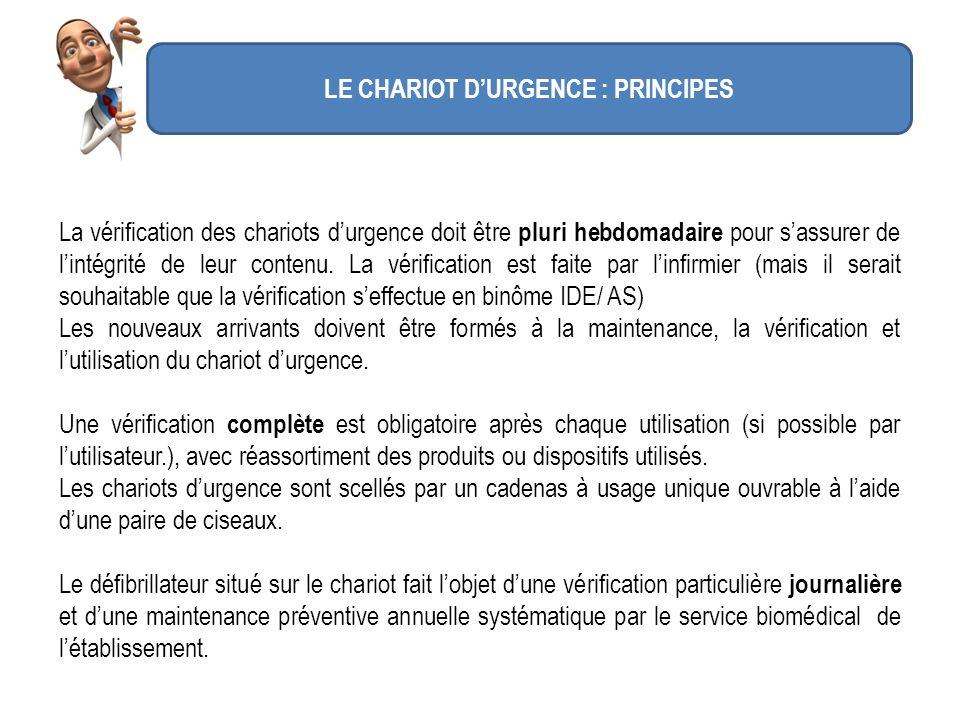 LE CHARIOT D'URGENCE : PRINCIPES