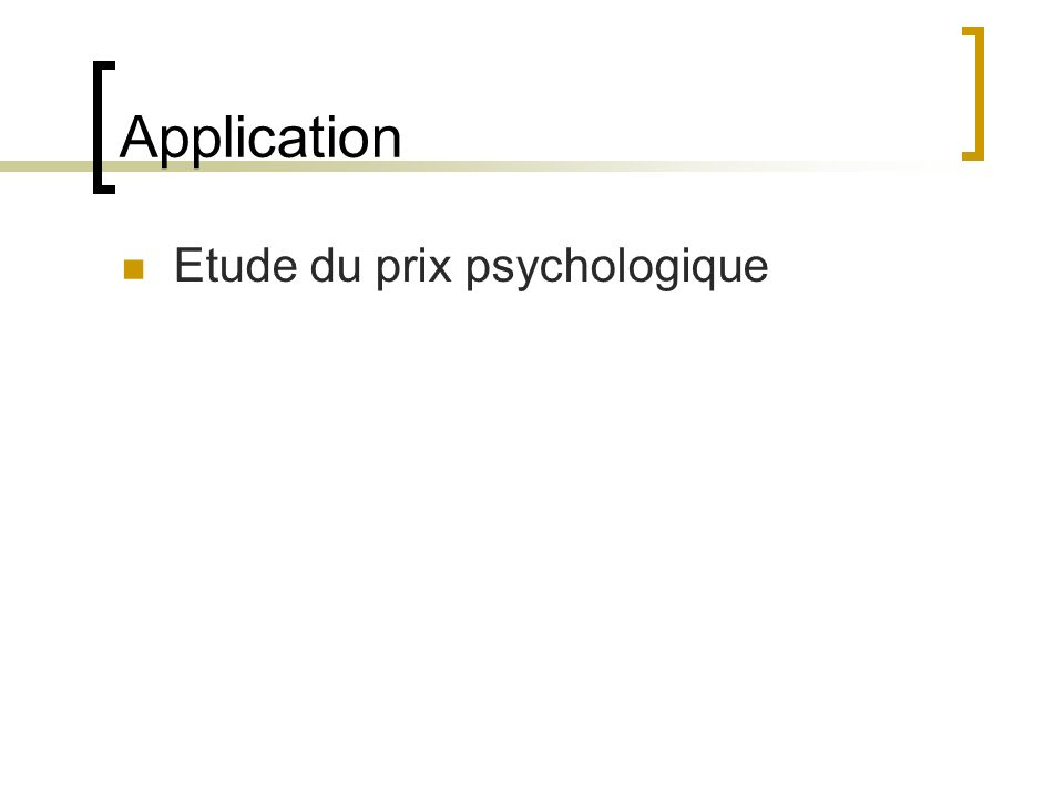Application Etude du prix psychologique