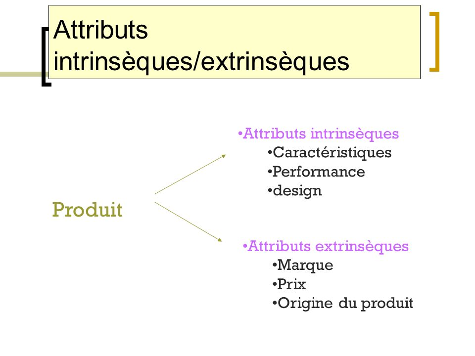 Attributs intrinsèques/extrinsèques
