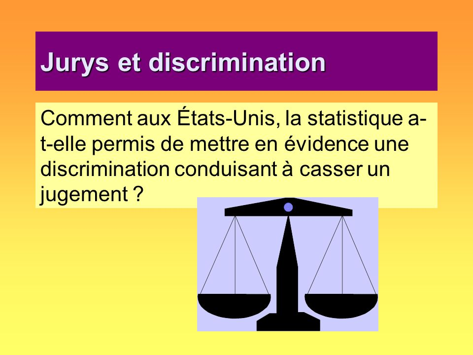 Jurys et discrimination