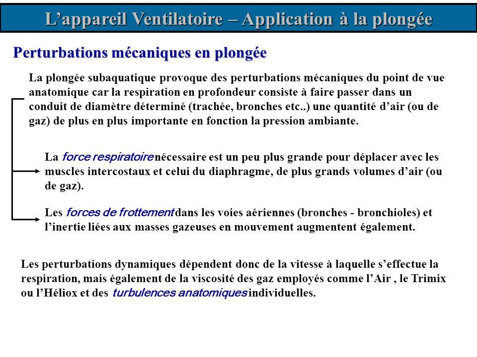 L'appareil Ventilatoire – Application à la plongée