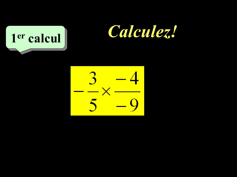 Calculez! 1er calcul 1