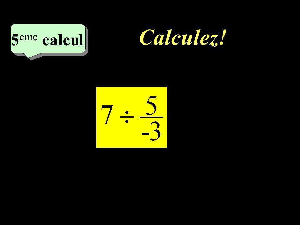 Calculez! 5eme calcul 5eme calcul 1