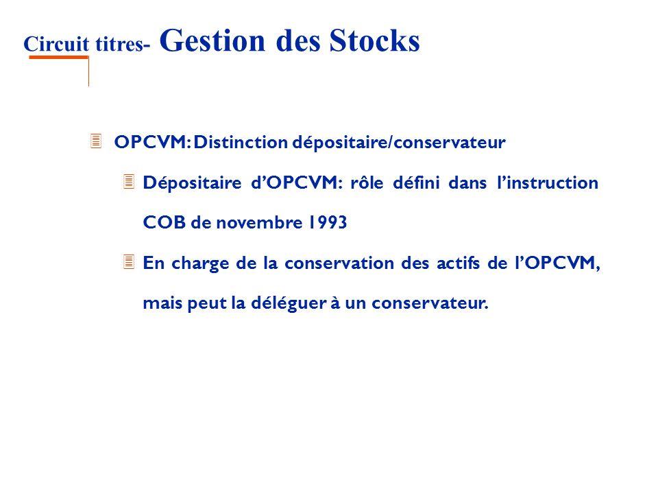 Circuit titres- Gestion des Stocks