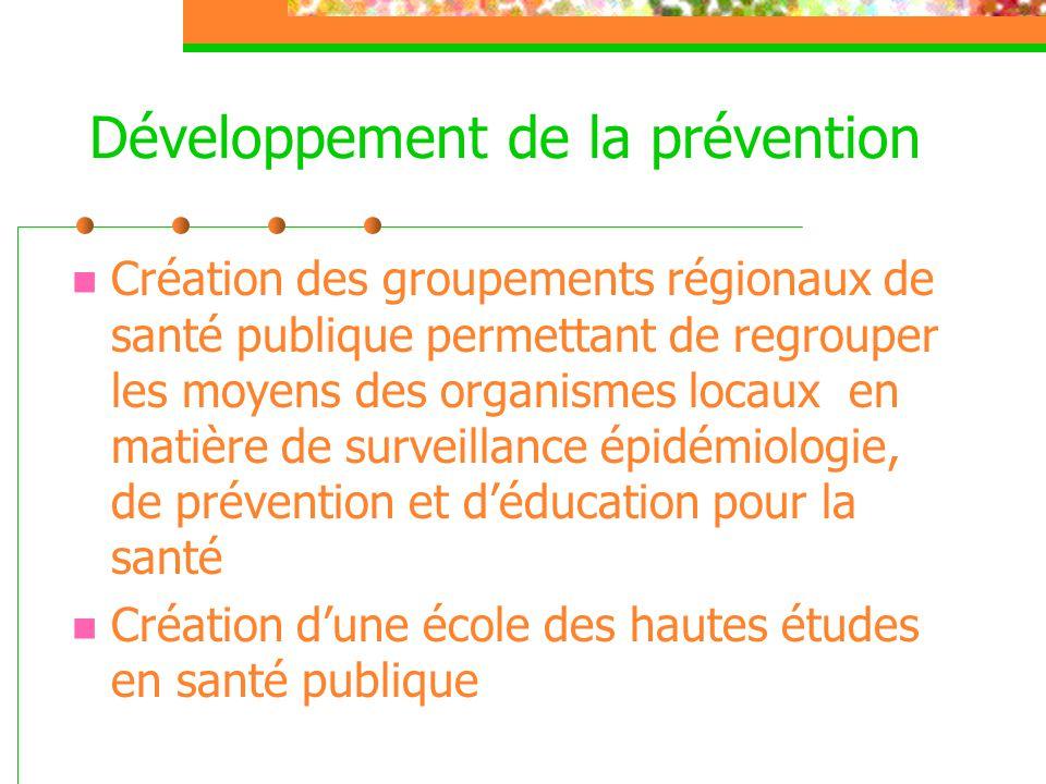 Développement de la prévention