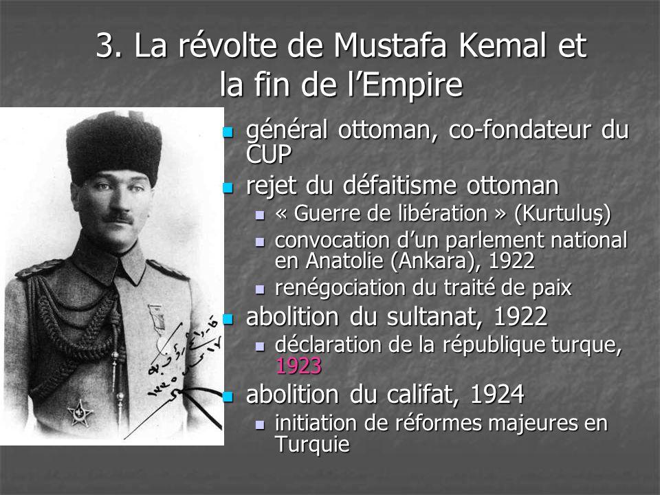 3. La révolte de Mustafa Kemal et la fin de l'Empire