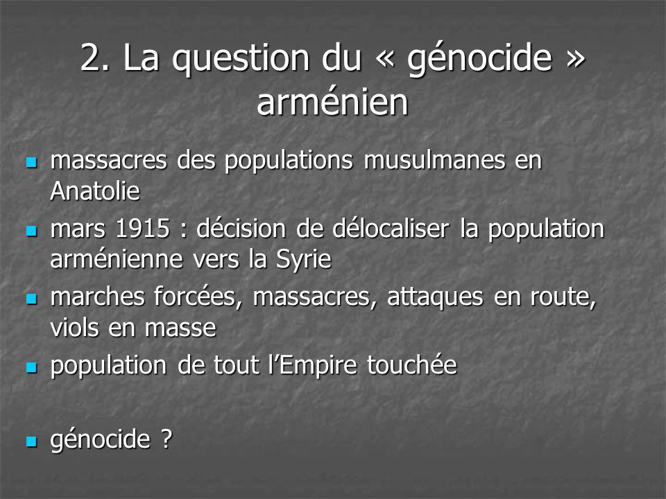 2. La question du « génocide » arménien