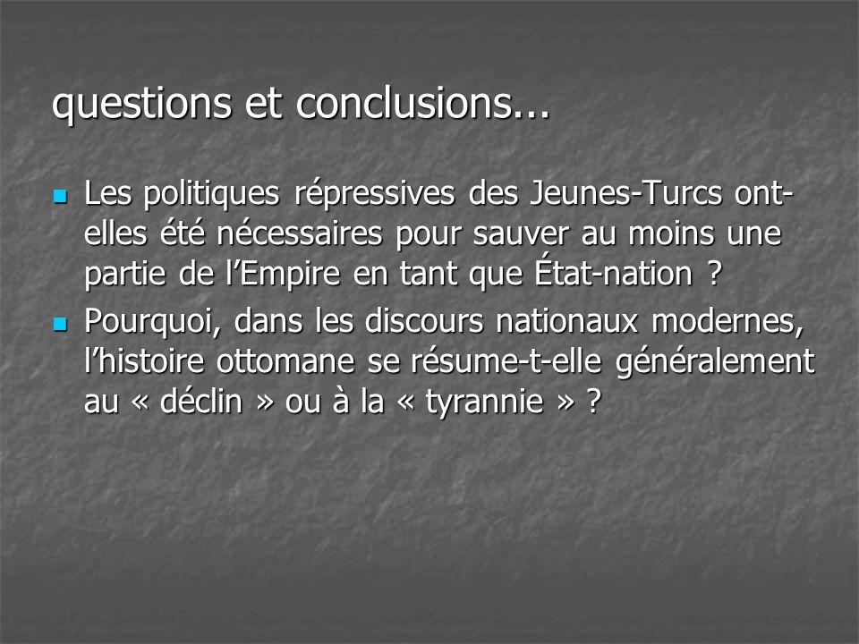 questions et conclusions...