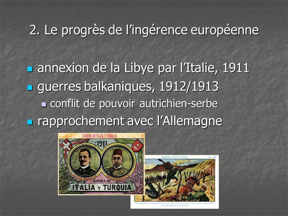 2. Le progrès de l'ingérence européenne