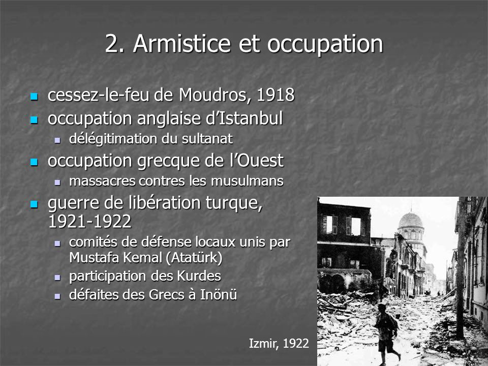 2. Armistice et occupation