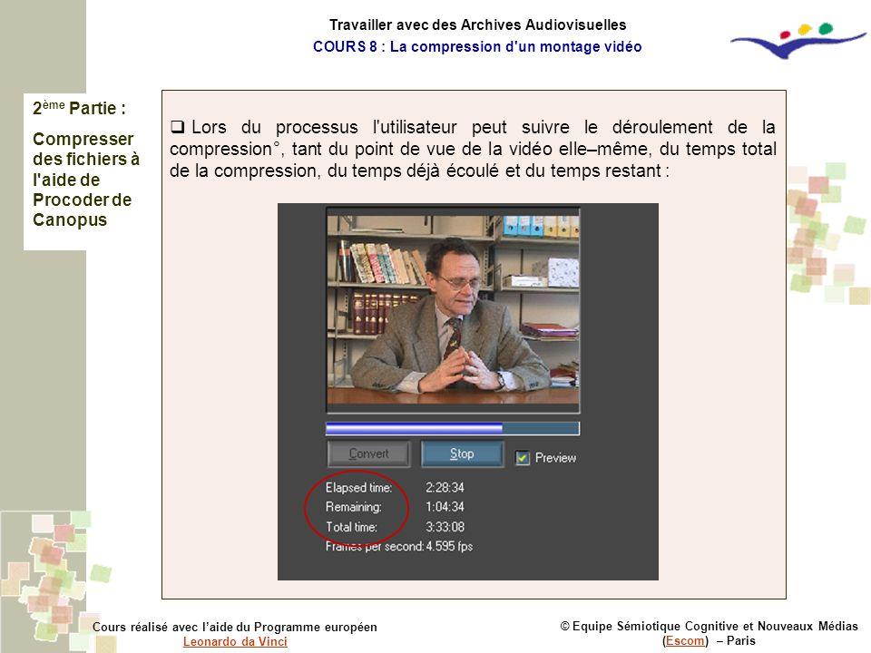 Travailler avec des Archives Audiovisuelles