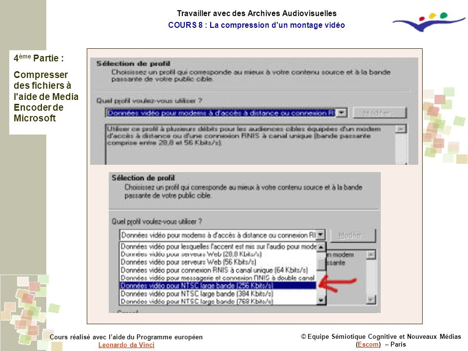 Compresser des fichiers à l aide de Media Encoder de Microsoft