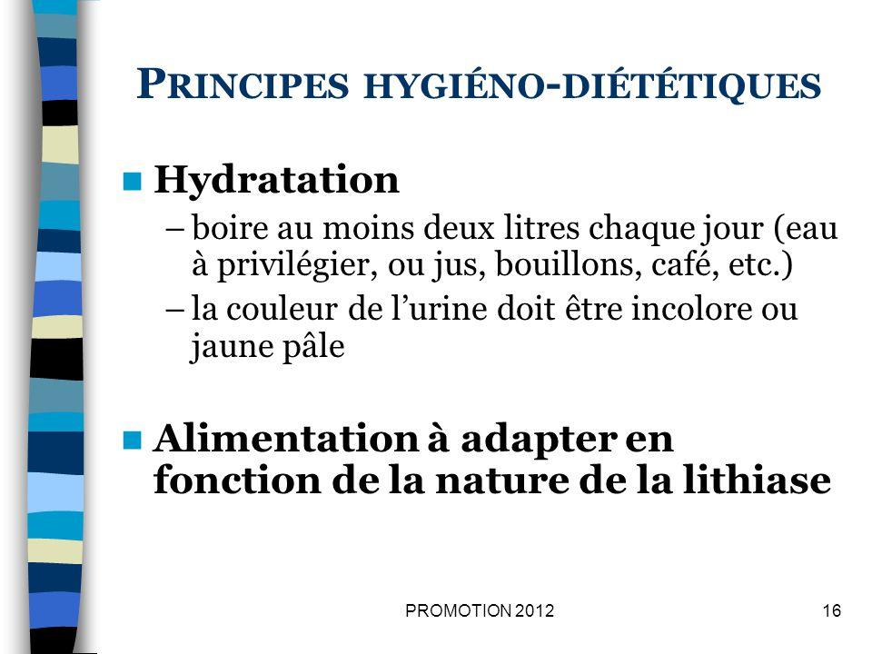 Principes hygiéno-diététiques