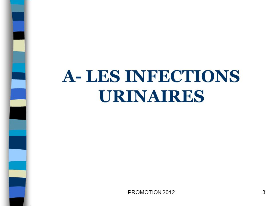 A- LES INFECTIONS URINAIRES