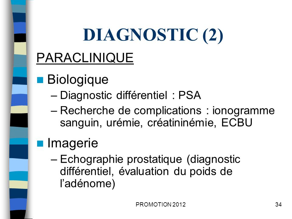 DIAGNOSTIC (2) PARACLINIQUE Biologique Imagerie