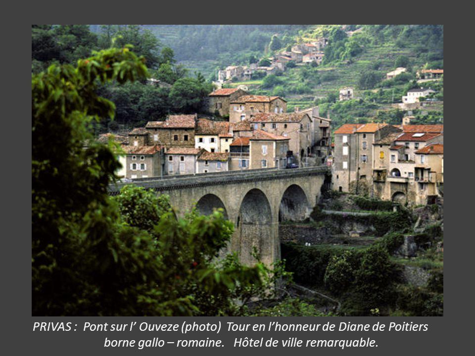 PRIVAS : Pont sur l' Ouveze (photo) Tour en l'honneur de Diane de Poitiers