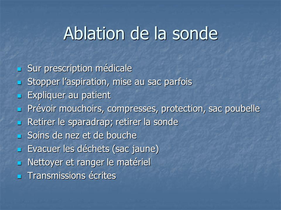Ablation de la sonde Sur prescription médicale