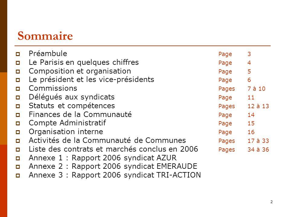 Sommaire Préambule Page 3 Le Parisis en quelques chiffres Page 4