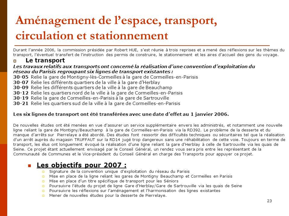 Aménagement de l'espace, transport, circulation et stationnement