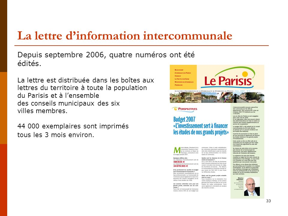 La lettre d'information intercommunale