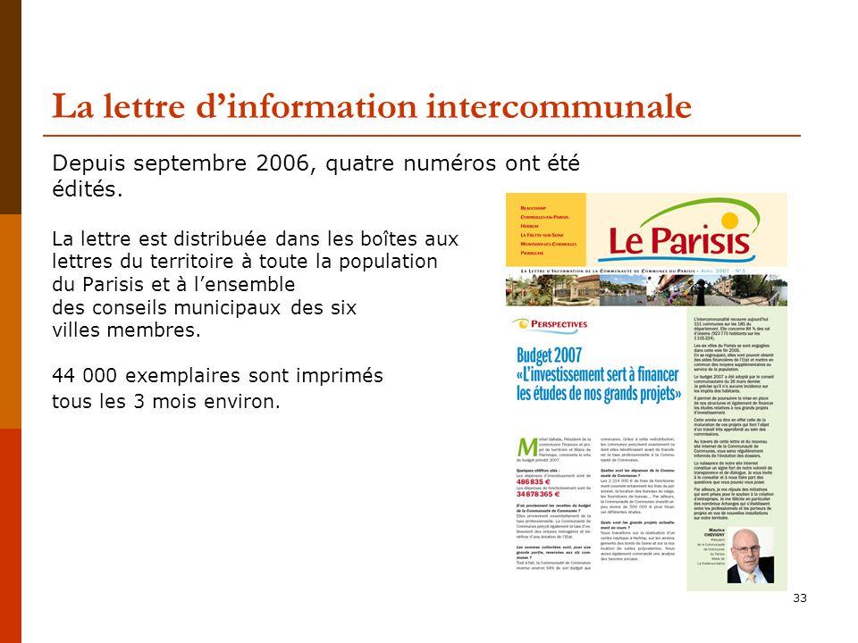 La lettre d'information intercommunale