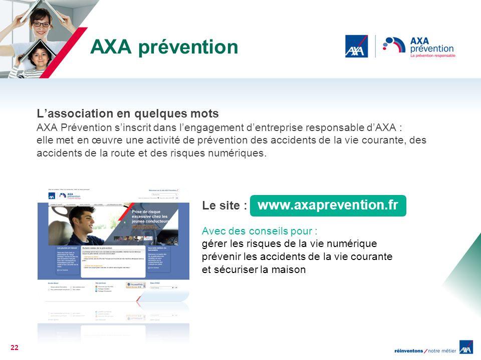 AXA prévention L'association en quelques mots